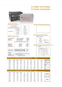 solarna baterija FL- 150D, 12V 150Ah