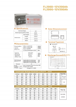 solarna baterija FL- 200D, 12 V 200Ah