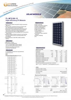 solarni panel FL-P FL-M 80W